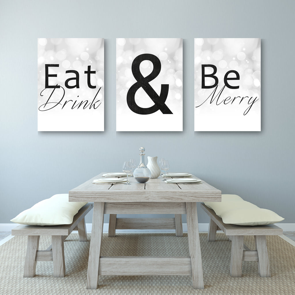 Eat Drink And Be Merry Home Decor Canvases