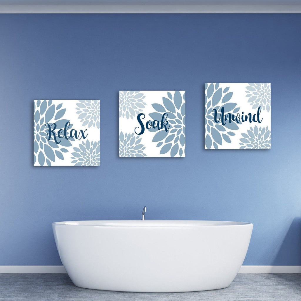 Relax Soak And Unwind Wall Art - Canvas Vows