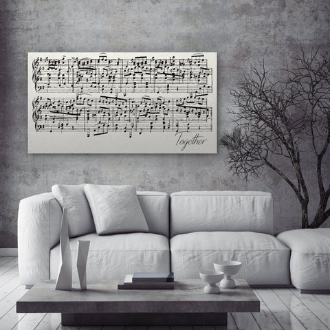 Custom Sheet Music Art - Copper Tone