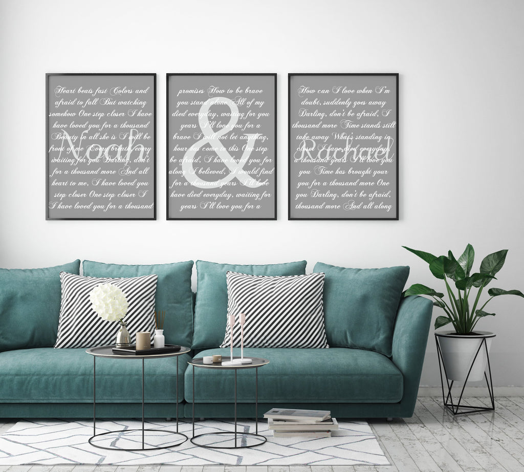 Triptych Song Lyrics Canvas - Canvas Vows