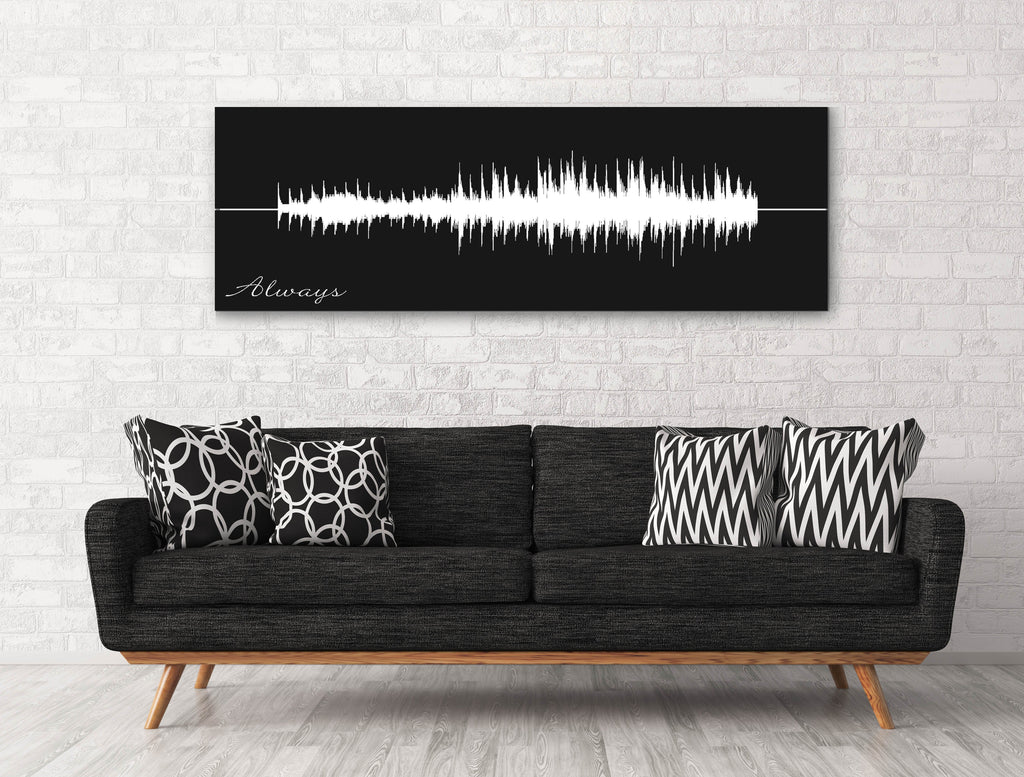Sound Wave Canvas - A Personalized Design Using Your Voice On Canvas - Canvas Vows