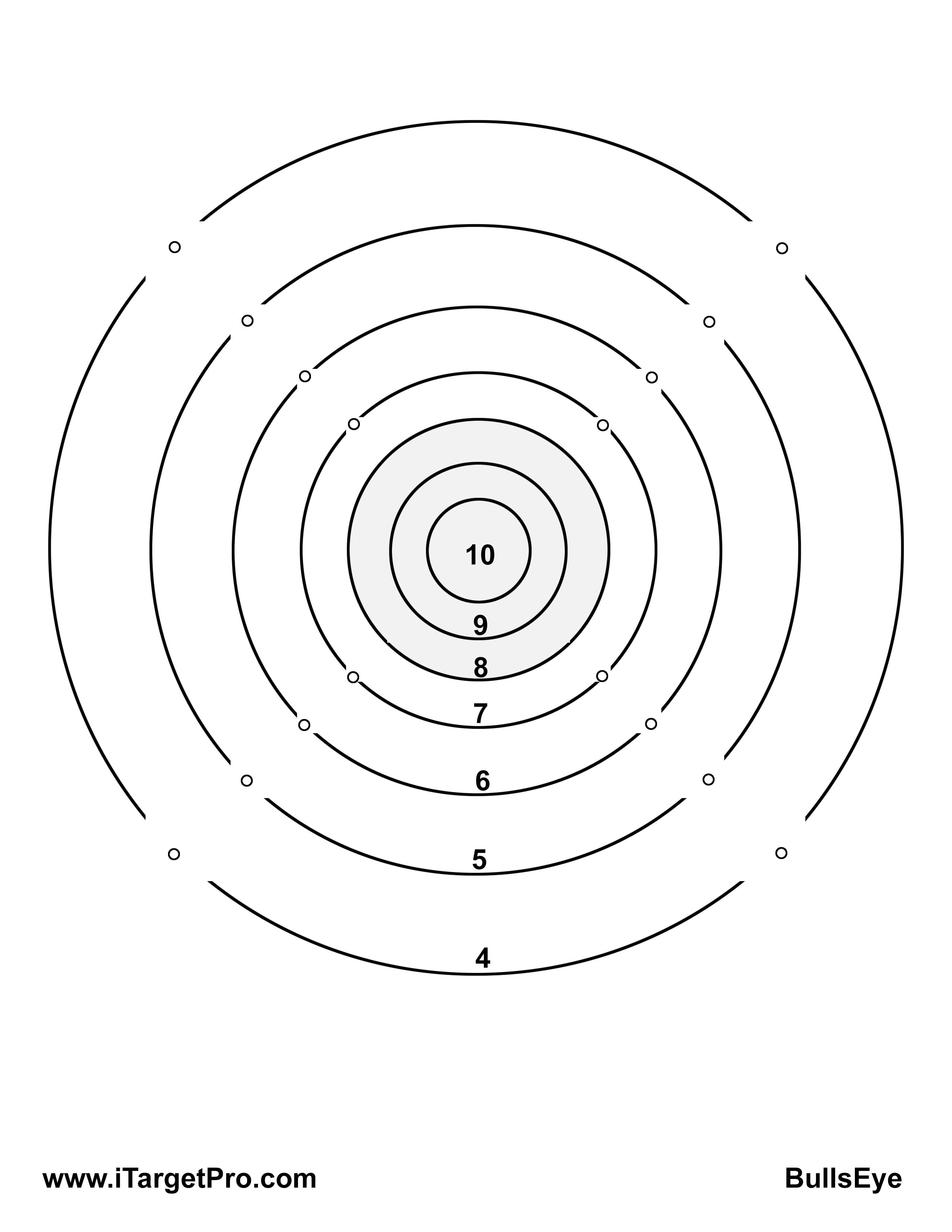 graphic regarding Printable Bullseye Target identify Can I seek the services of my particular aim? iTarget