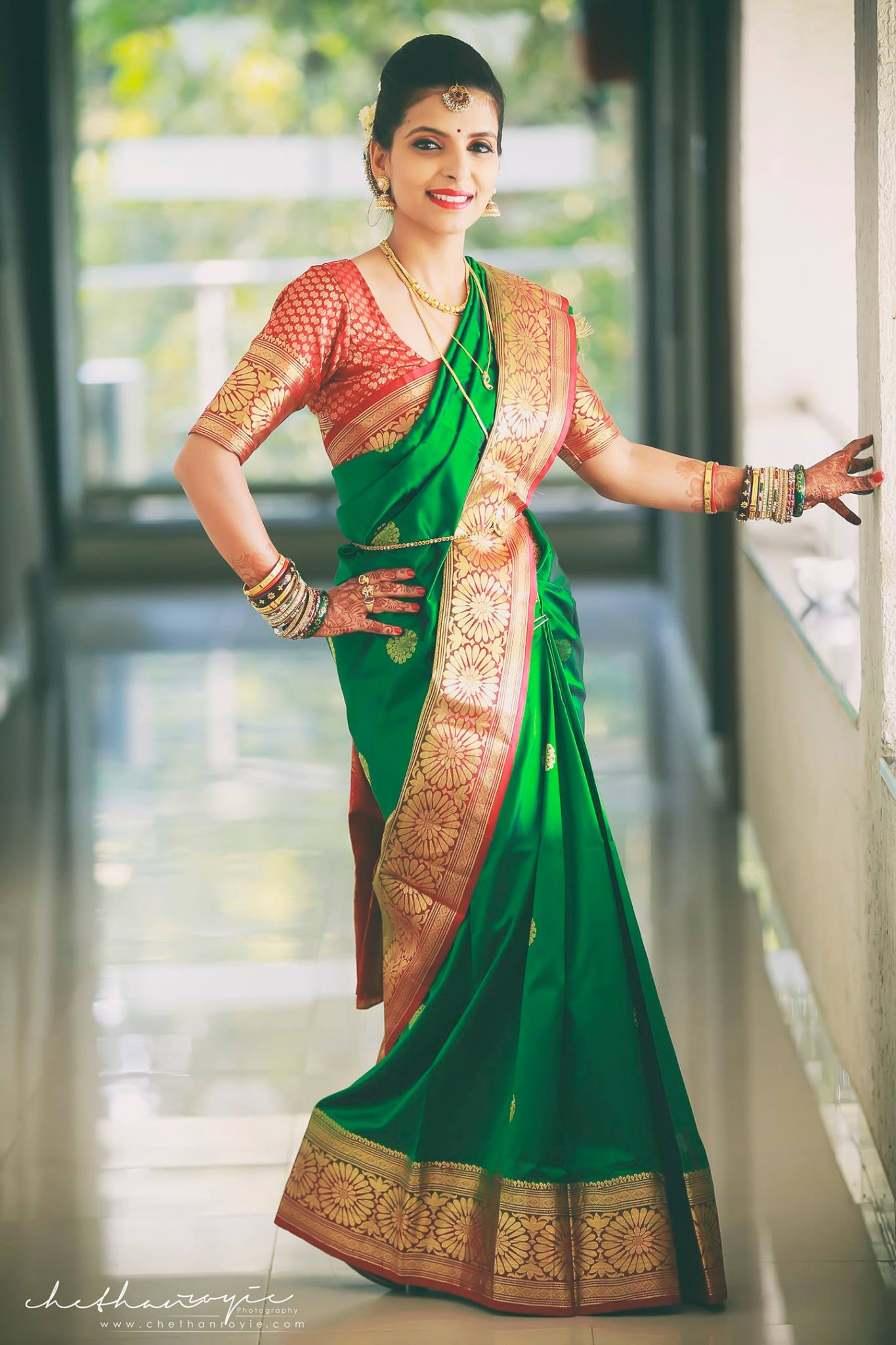 Green-Color-Designer-silk-saree