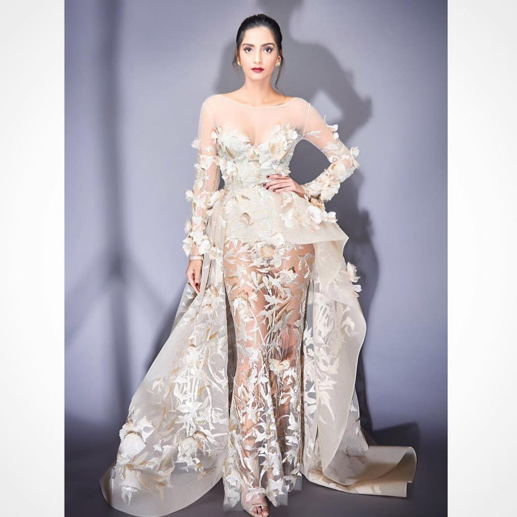 Sonam Kapoor in Elie Saab designer dress