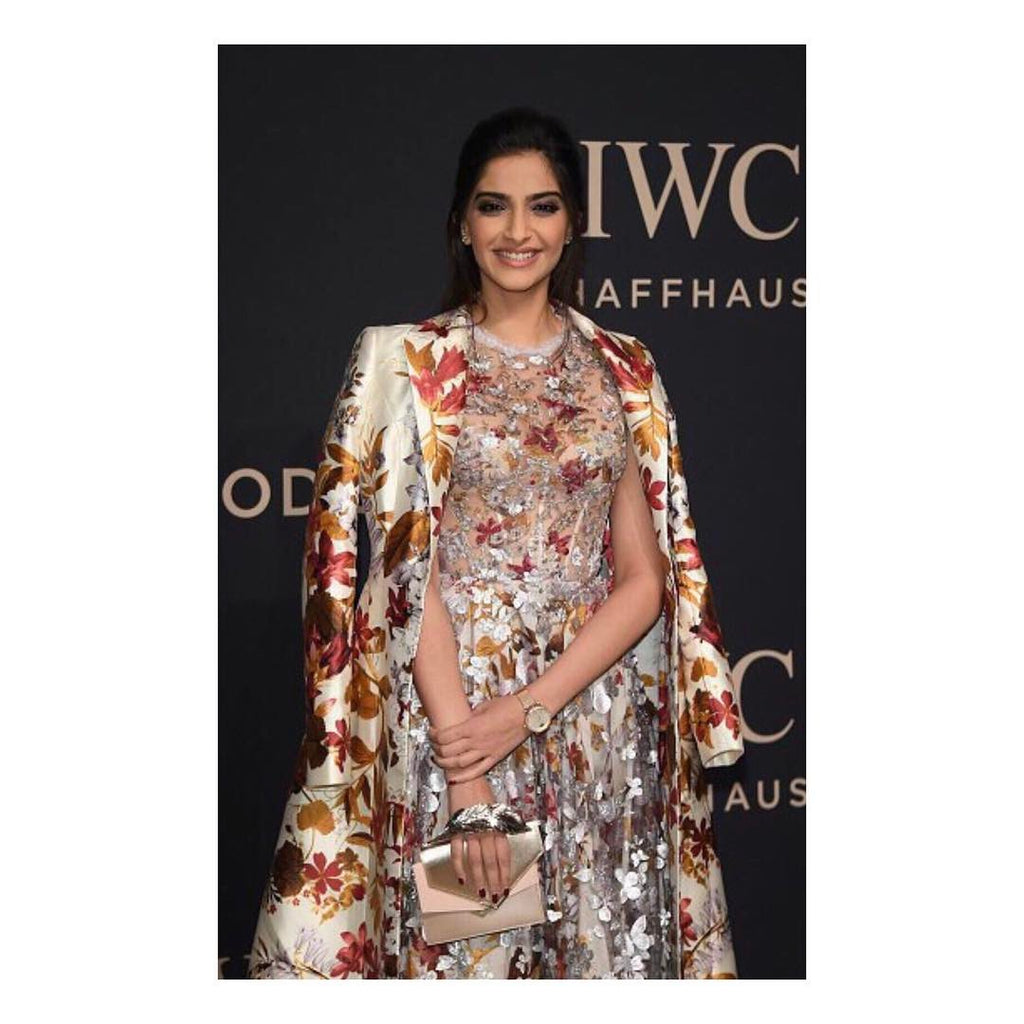 Sonam Kapoor in Ralph & Russo designer dress western wear attends the Decoding the Beauty of Time Gala Dinner