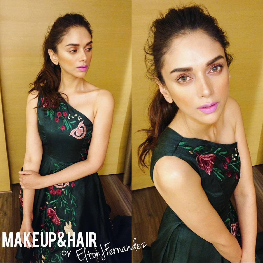 Aditi Rao Hydari attended the Ritz Style Awards on Sunday evening in a one-shouldered Sriya Som gown