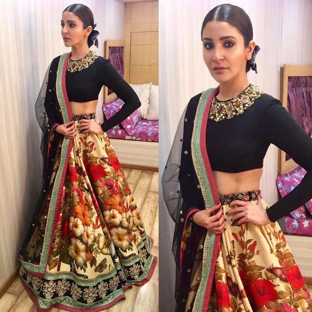 Upcoming fashion trends 2017 - Anushka Sharma In Sabyasachi Spring 2017 Couture Line