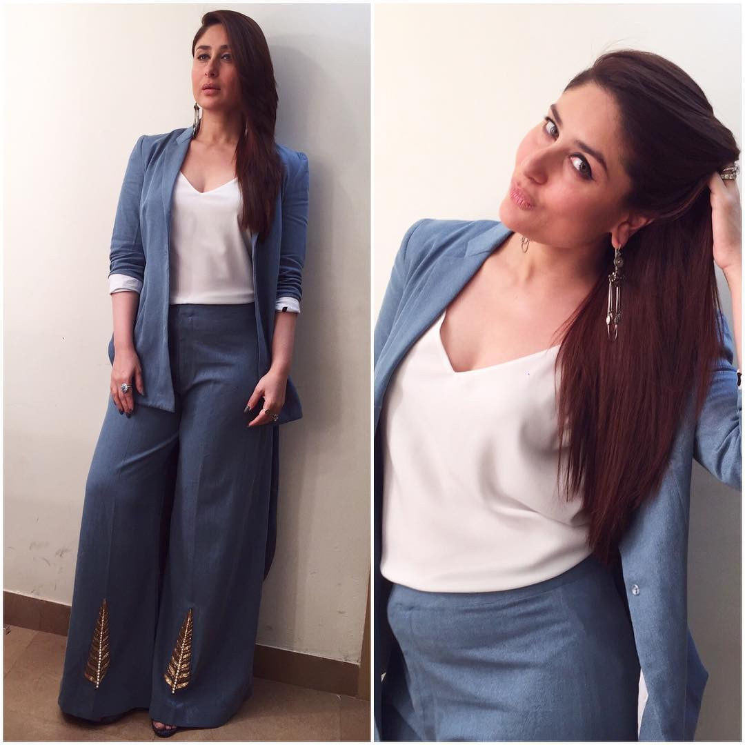 Kareena Kapoor Khan in Denim Suit From Masaba's Spring 2017 Collection