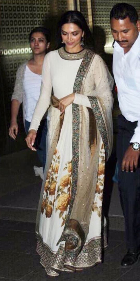 Deepika Padukone Looked Traditional In Sabyasachi Anarkali Suit