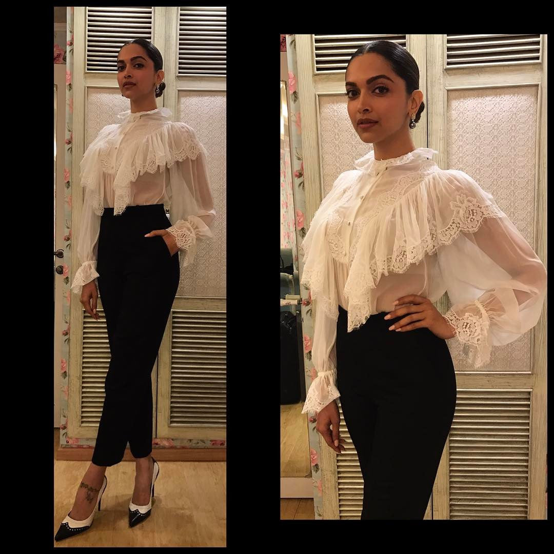 Deepika Padukone in Dolce and Gabbana at Ambani's Party