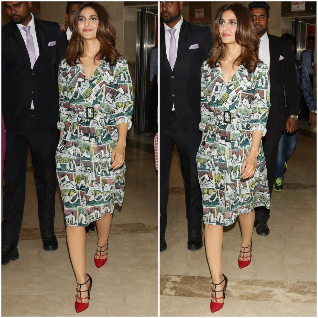 Vaani Kapoor In Burberry Printed Dress
