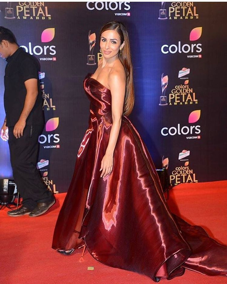Malaika Arora Khan in Erol Albayrak at colors Golden Petals Award