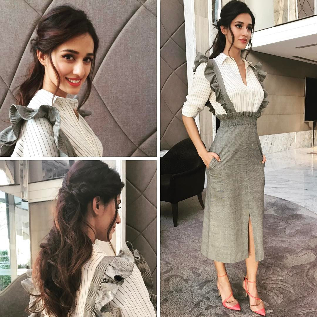 Disha Patani in H & M Midi Dress at Reliance Event