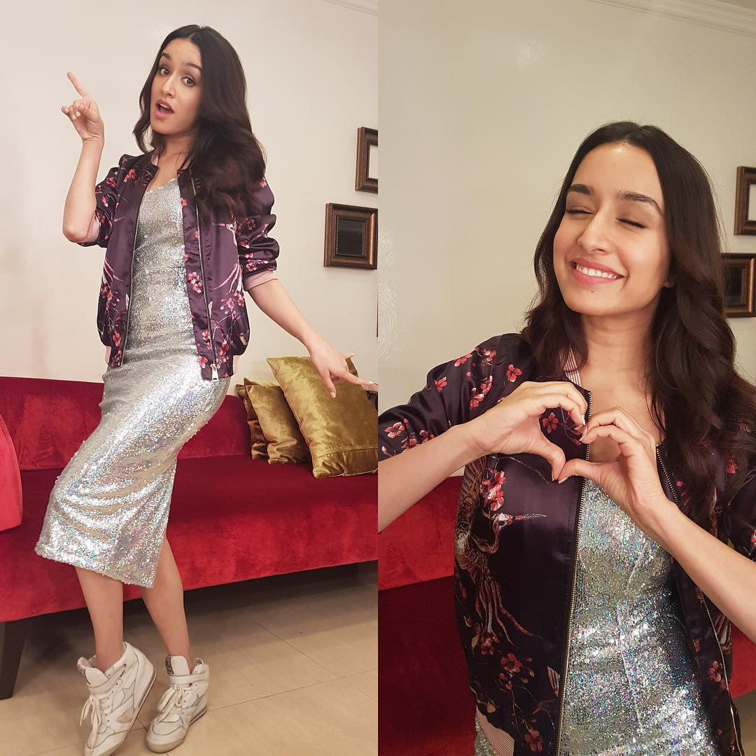 Shraddha Kapoor looked gorgeous in Designer midi dress