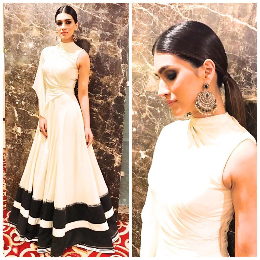 Kriti Sanon Looked Ravishing In White Monochrome Gown Design By Shantanu and Nikhil