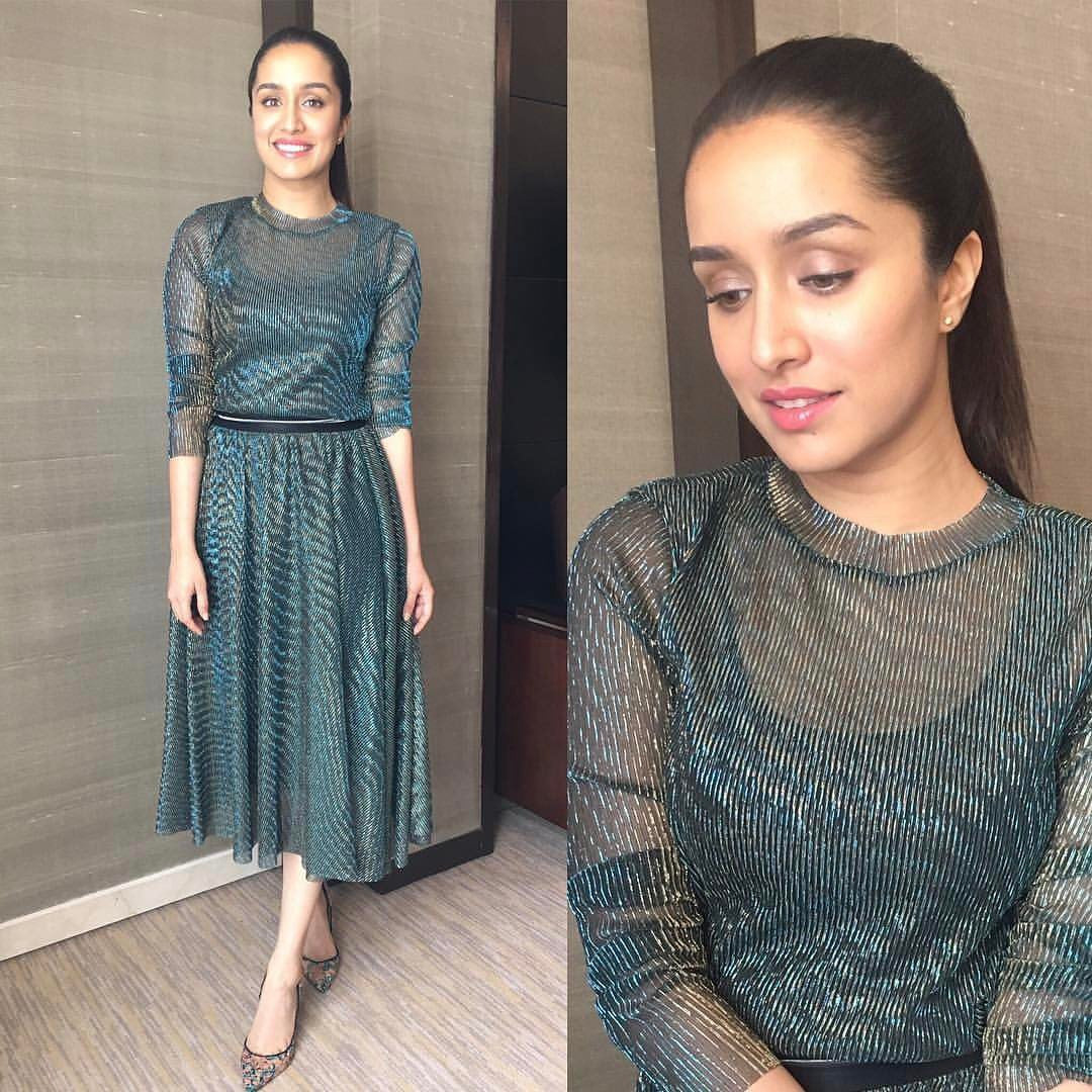 Shraddha Kapoor Looked Hot in madison outfit and paul andrew shoes