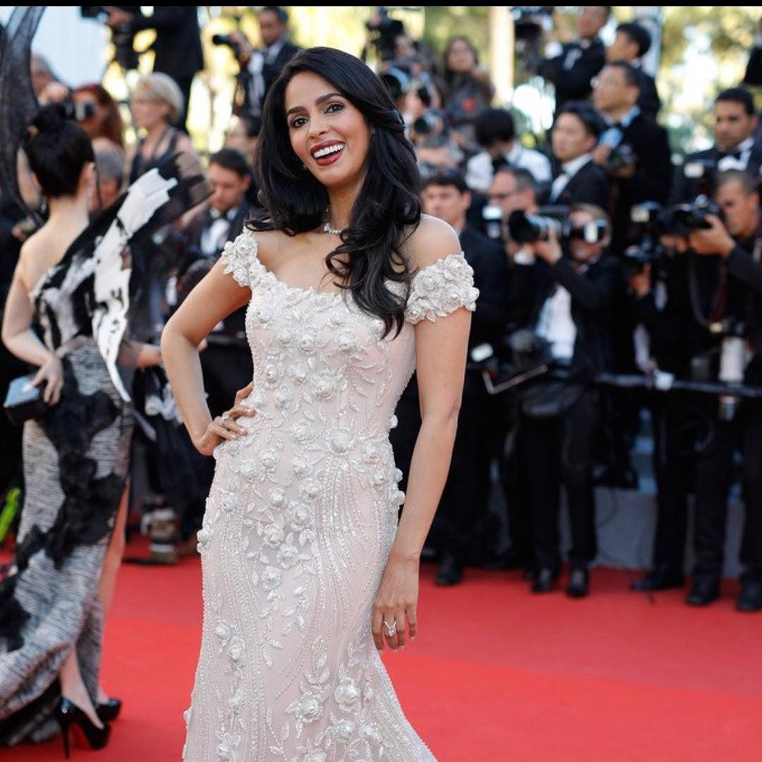 Mallika Sherawat Looked Gorgoues in Georges Hobeika designer gown team up with a spectacular necklace by Messika Joaillerie.