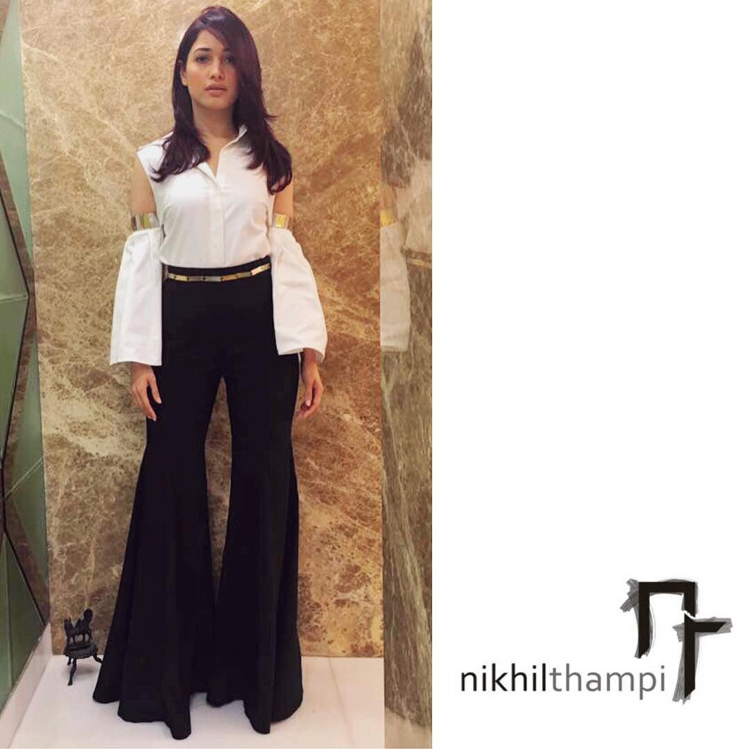 Tamannaah  looked gorgeous in Nikhil Thampi