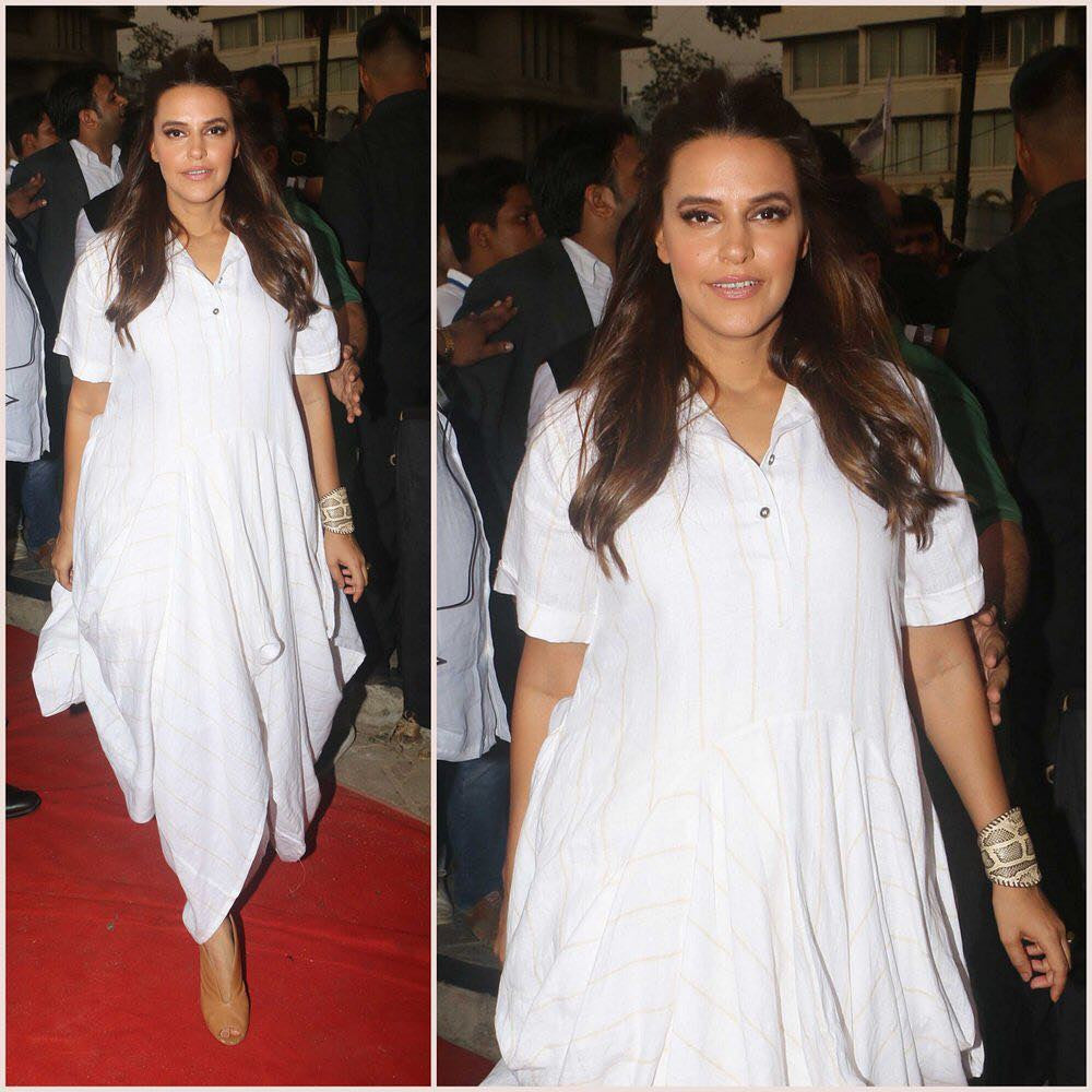 Neha Dhupia In White Dress From Chola