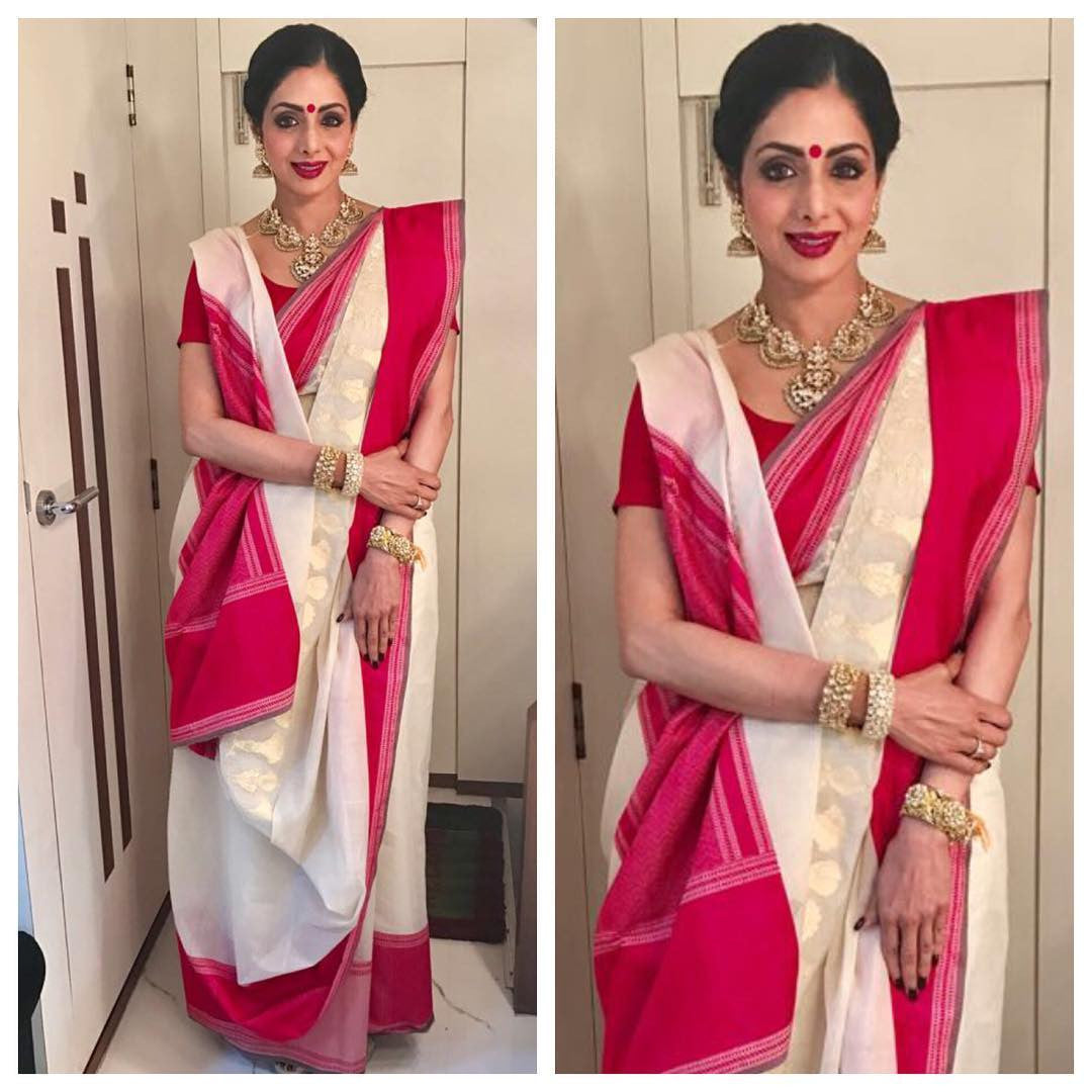 Sridevi Looked Ultimate Deshi Diva in Swati And Sunaina's Traditional Saree