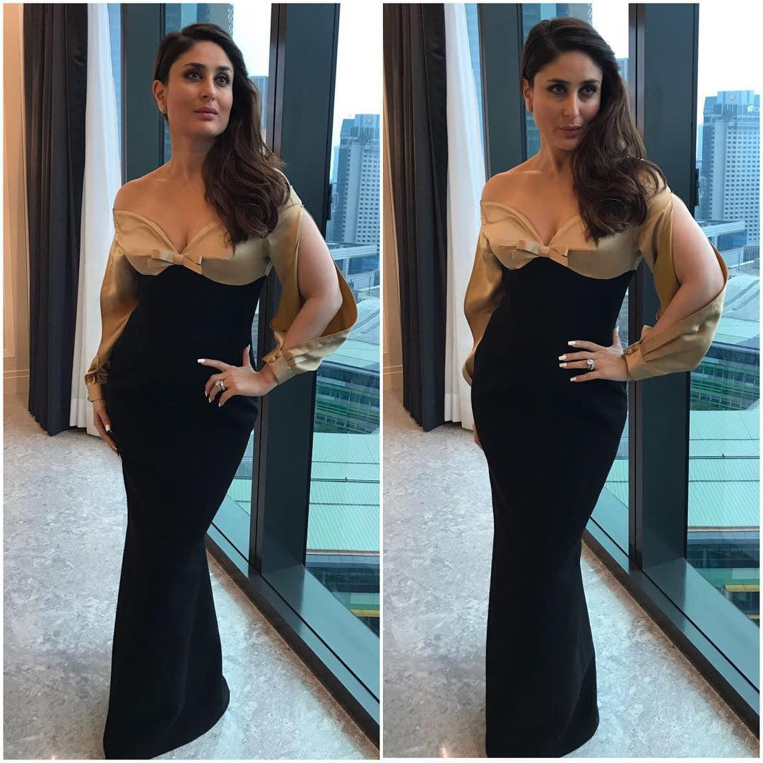 Kareena Kapoor Looked Breathtaking In Black Fitted Gown From Poem