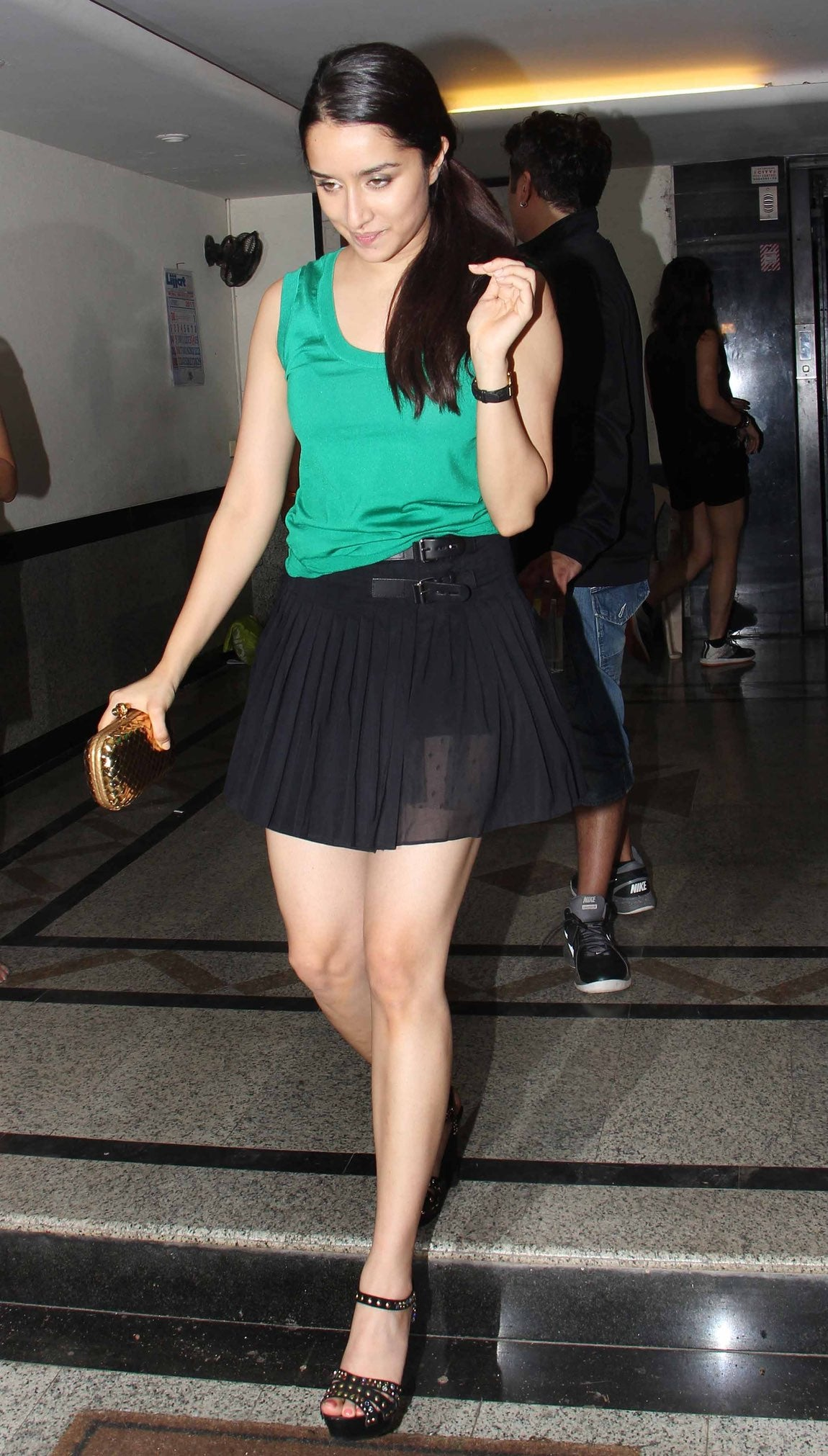 Shraddha Kapoor in Black Short Skirt Teamup With green top at Mohit Suri's Birthday bash