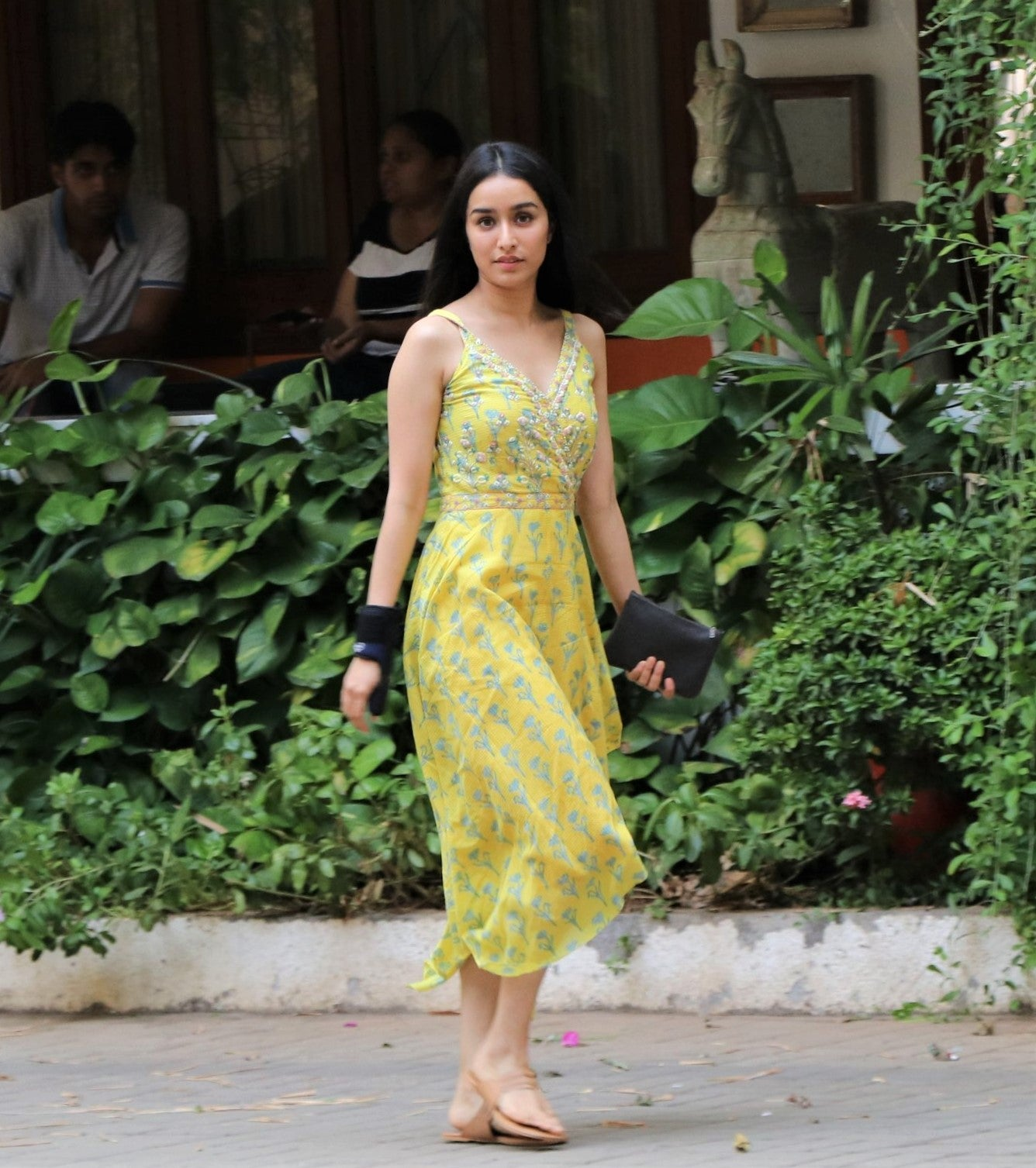 Shraddha Kapoor in Beautiful Floral Printed Midi Dress from Anita Dongre's Collection