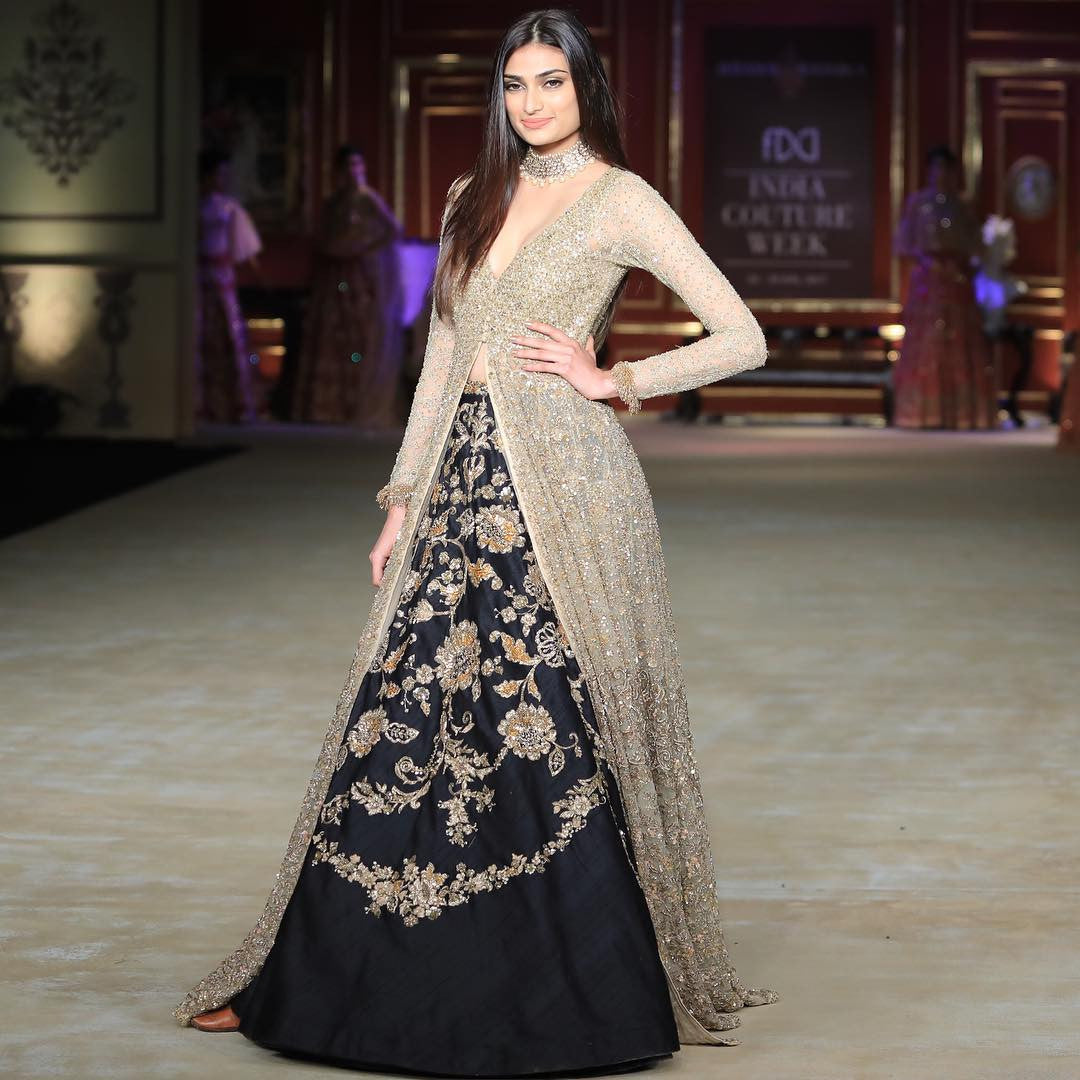 Athiya Shetty Looked Like A Princess in Shyamal And Bhumika's Designer Creation