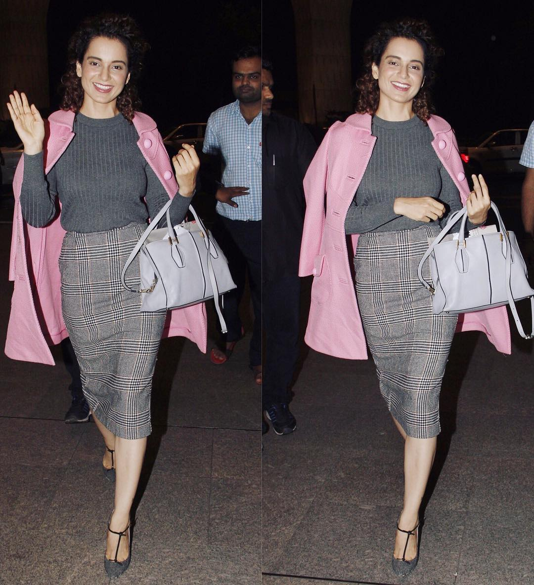 Kangana Ranaut Makes A Sharp Airport Style Statement In H&M & Red Valentino