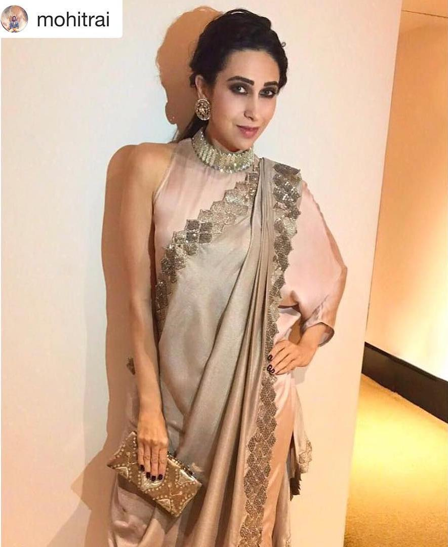 Karisma Kapoor Looked Like A Fashion Frontrunners in Her Stylish Desi Look