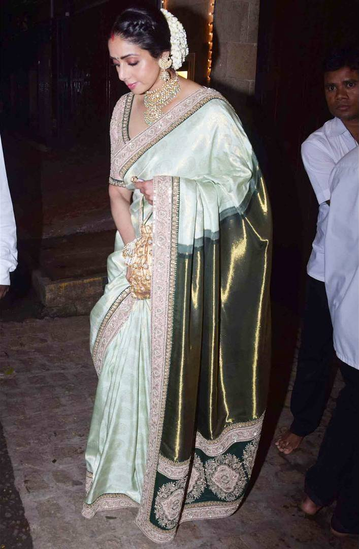 Sridevi Looked Like A Complete Vision in Designer Silk Sarees By Sabyasachi