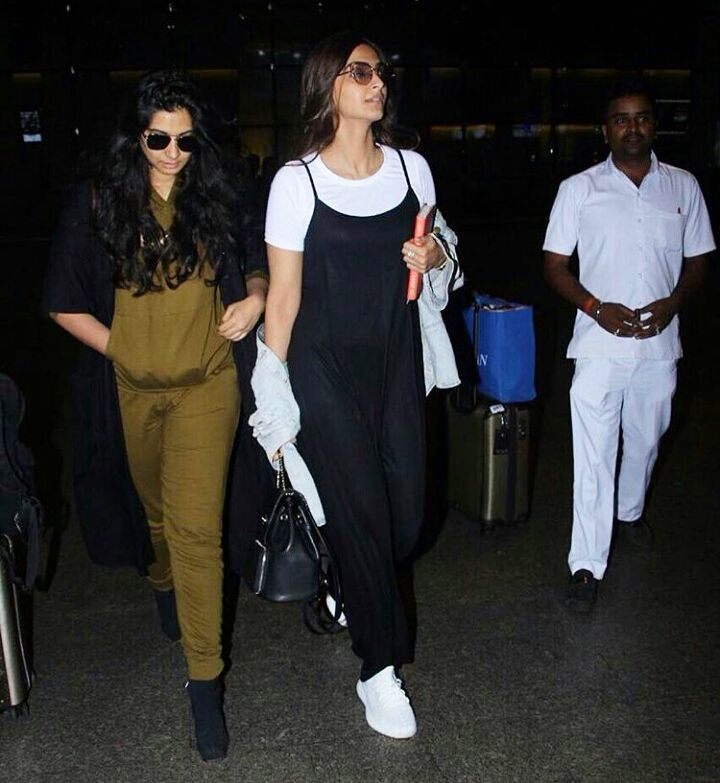 Sonam Kapoor In Her Latest Monochrome Airport Style