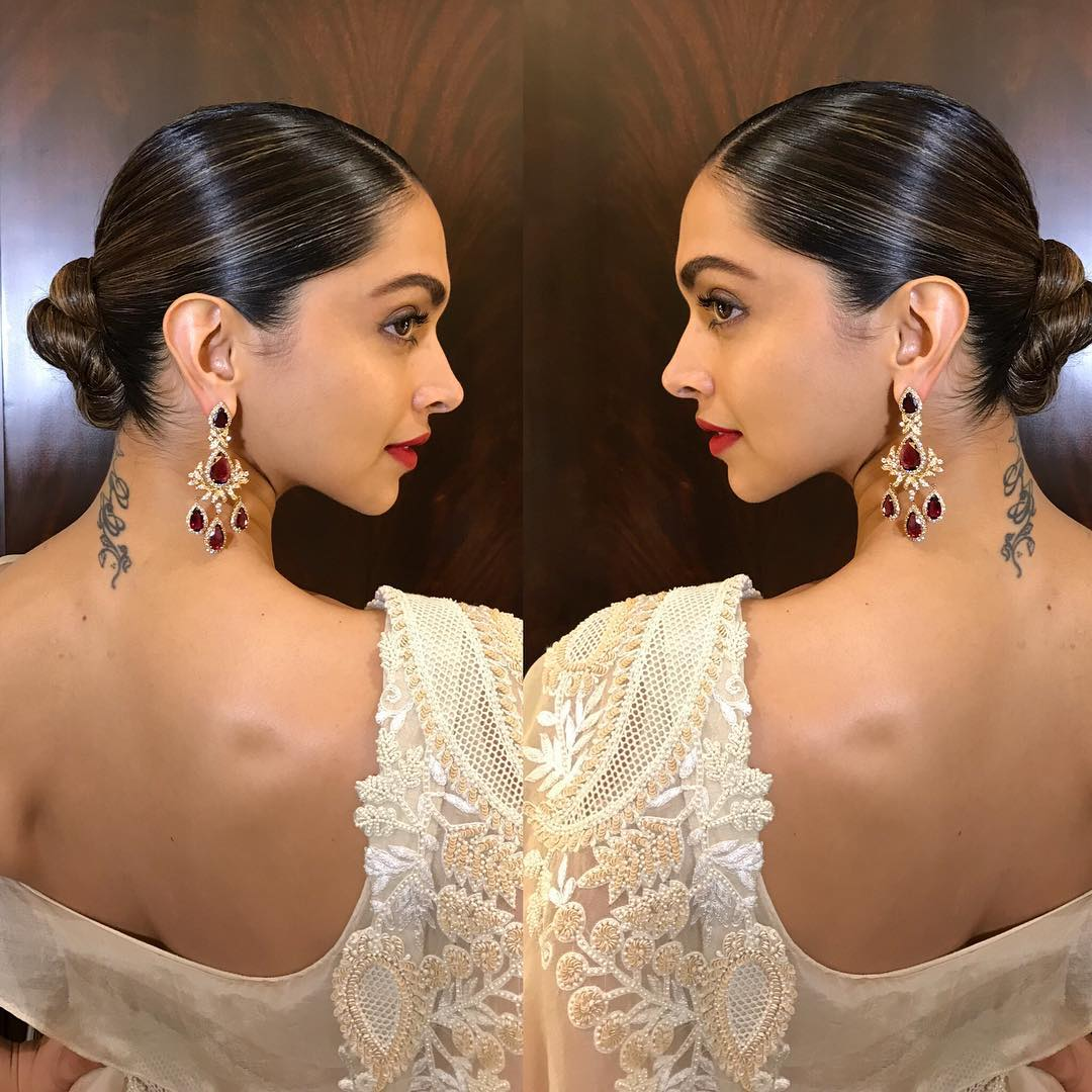 Deepika Padukone Just Wore A Cream Saree And It's Totally LIT