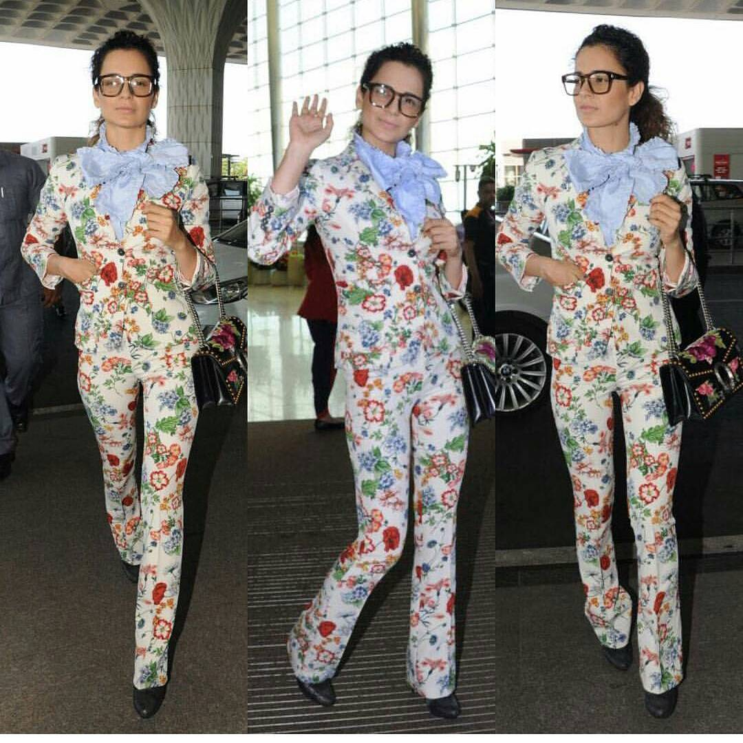 Wao!! Kangana Ranaut Looked in Stylish Casual At The Airport Look