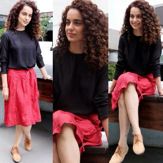 kangana-red-black-skirt-image