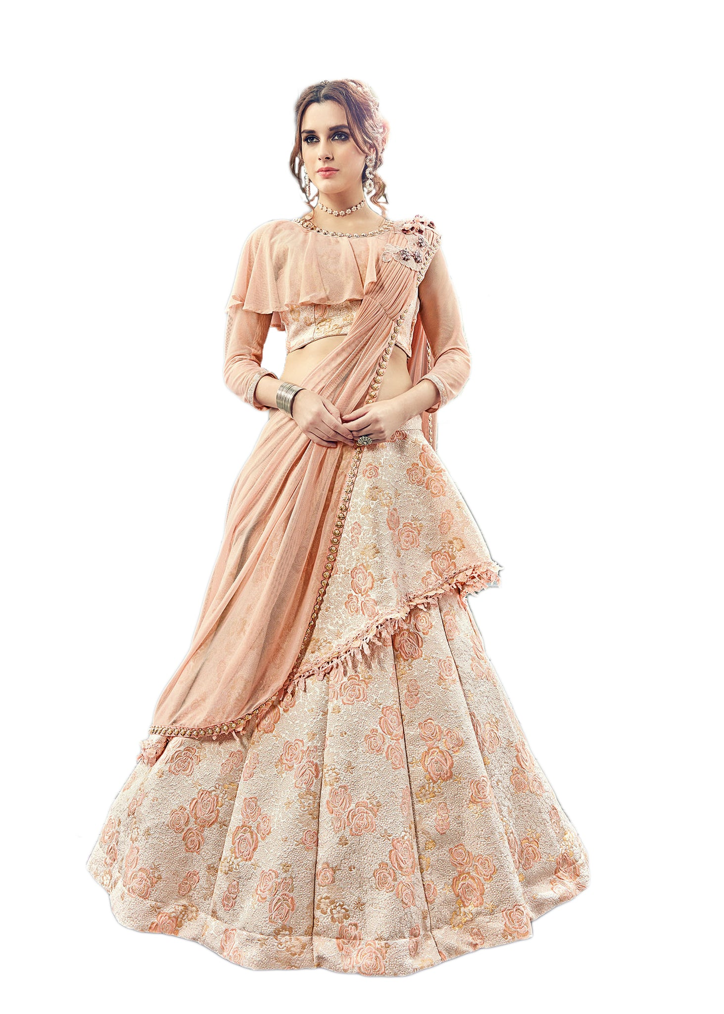 acfcec9904de7 Top 6 Designer Indo Western Lehenga Choli Ideas Will Give You ...