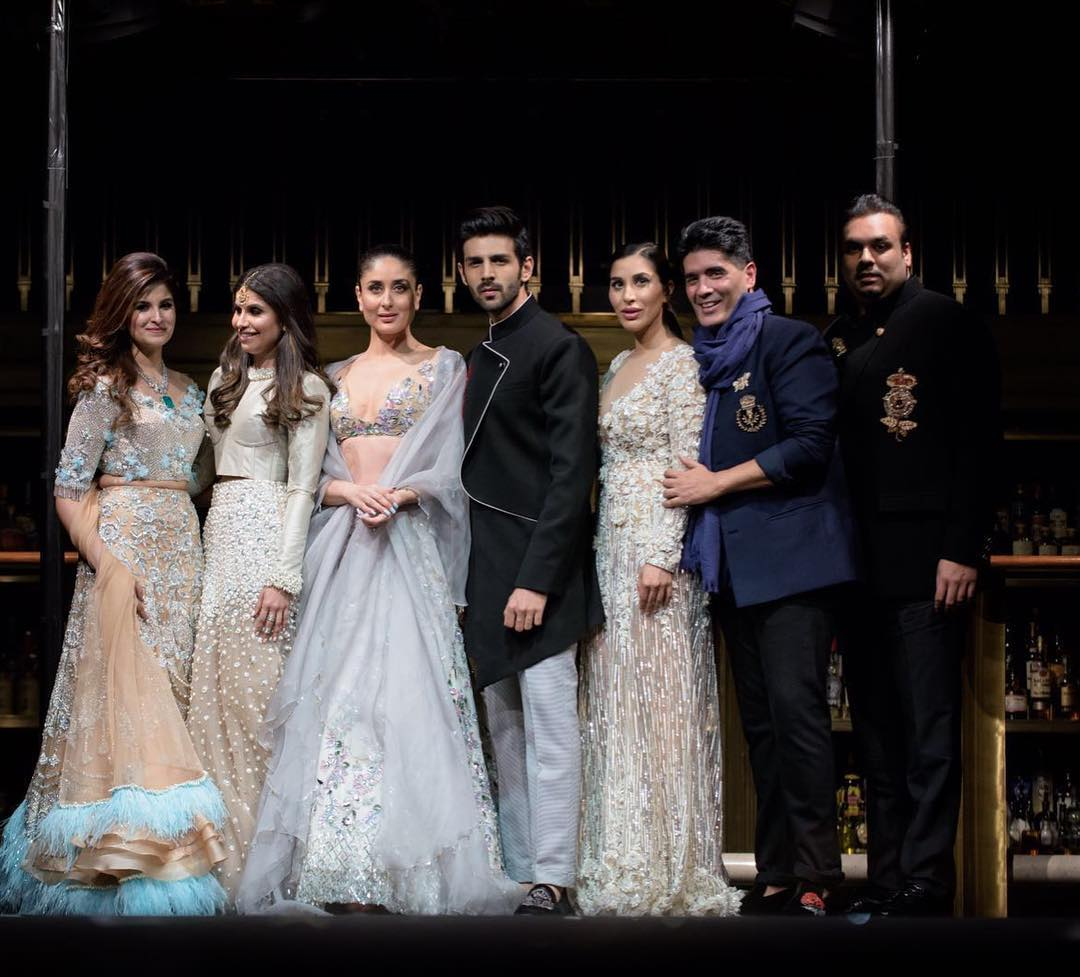 Summer Couture collection, Manish chose his favourite muse Kareena Kapoor Khan and the very dapper Kartik Aaryan.