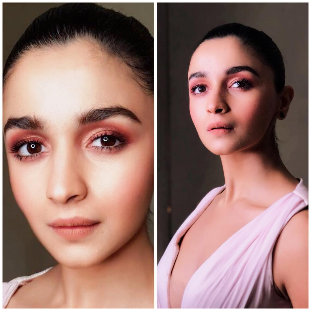 Alia bhatt looked pretty in a pink gown from  Nedret Spring Summer 2018 Collection