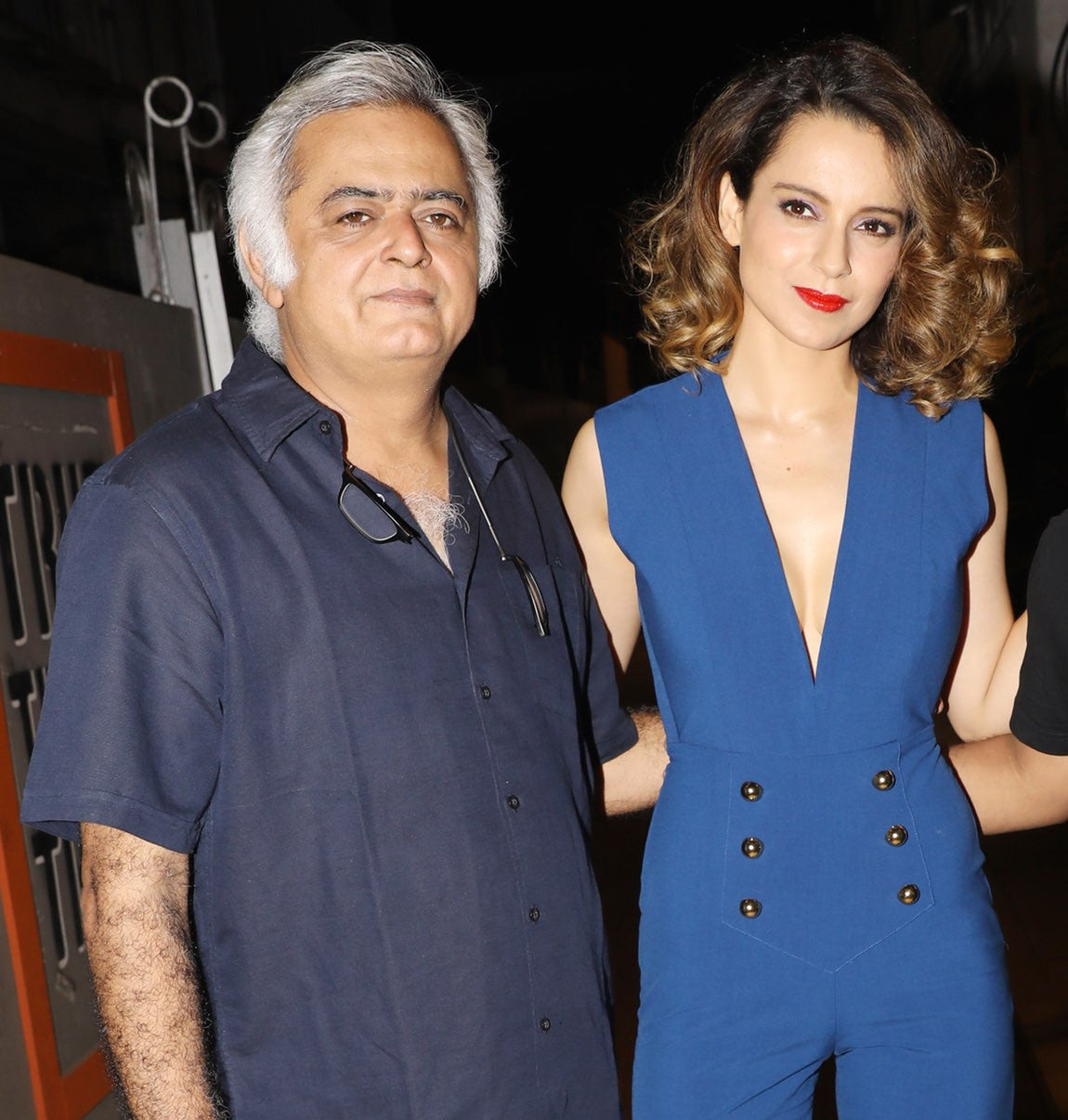 Kangana Ranaut looked striking in a cobalt blue jumpsuit by Michelle Mason