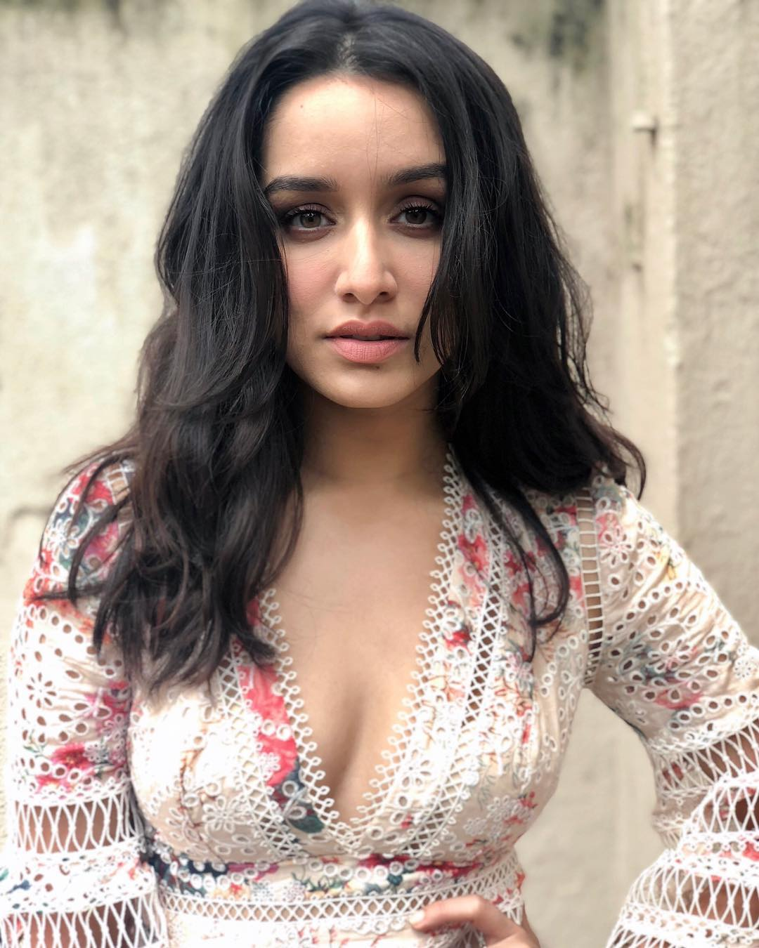 Shraddha Kapoor in floral printed Dress at 'Batti Gul Meter Chalu' Trailer Launch
