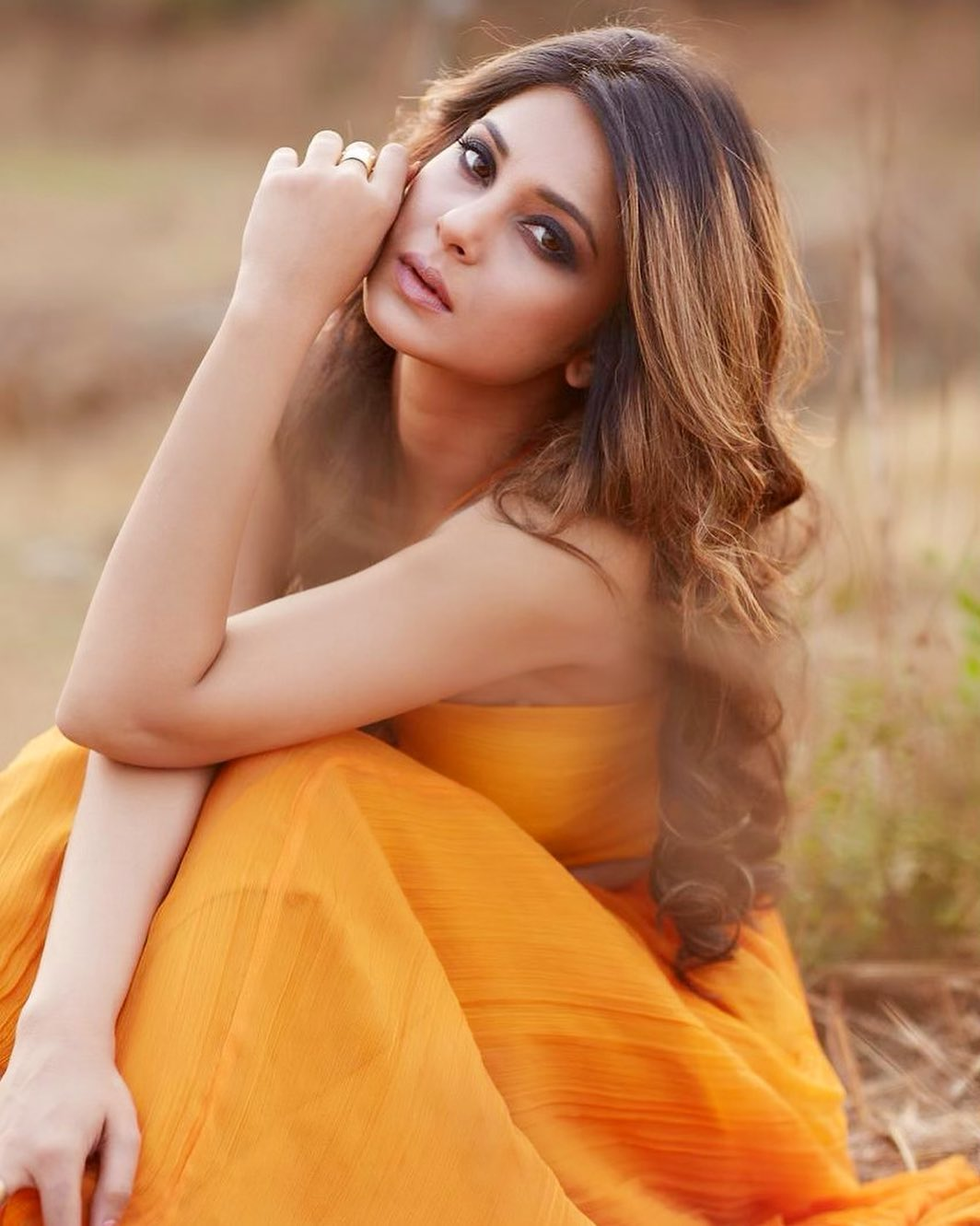 Jennifer Winget in Yellow Dress