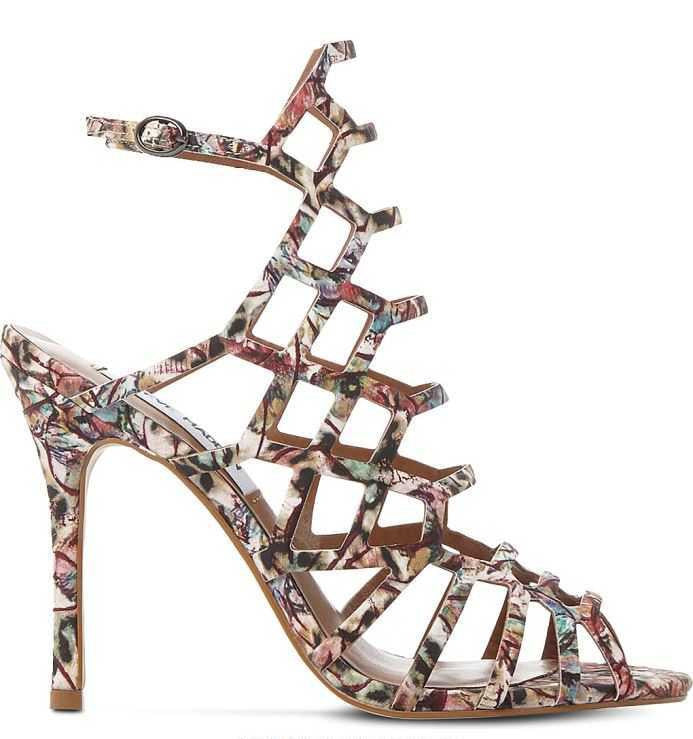 Printed Cage Sandals From Steve Madden
