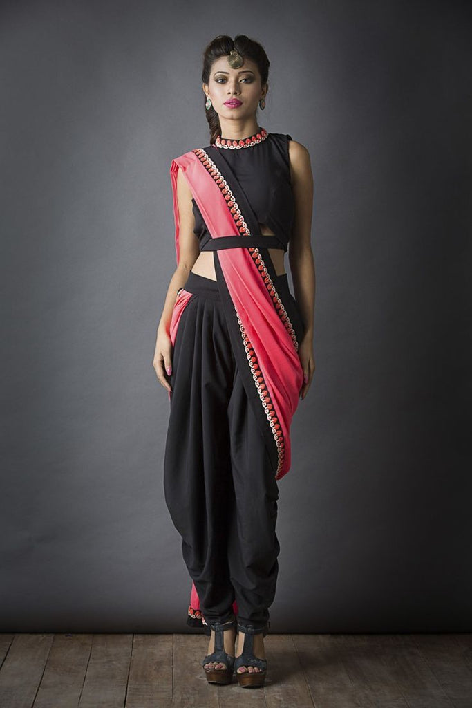 designer-saree-with-pants