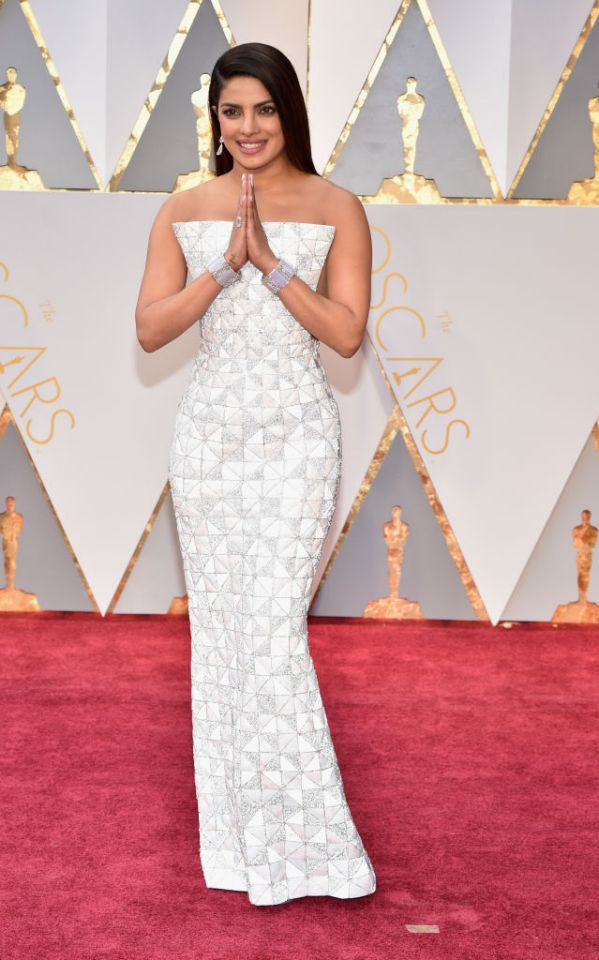 Priyanka Chopra Looks Splendid In Ralph And Russo White Gown At The Oscar Award 2017