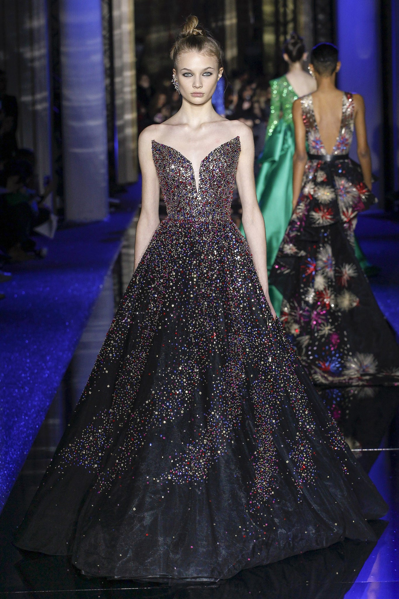 Designer Black Gown by Zuhair Murad