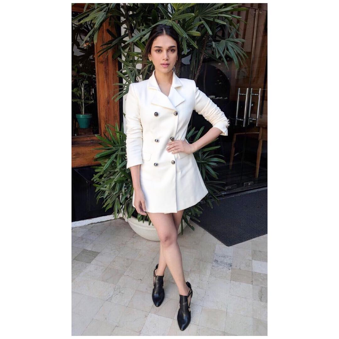 Aditi Rao Hydari Dones Blazer Dress Fit For The Cool Winters