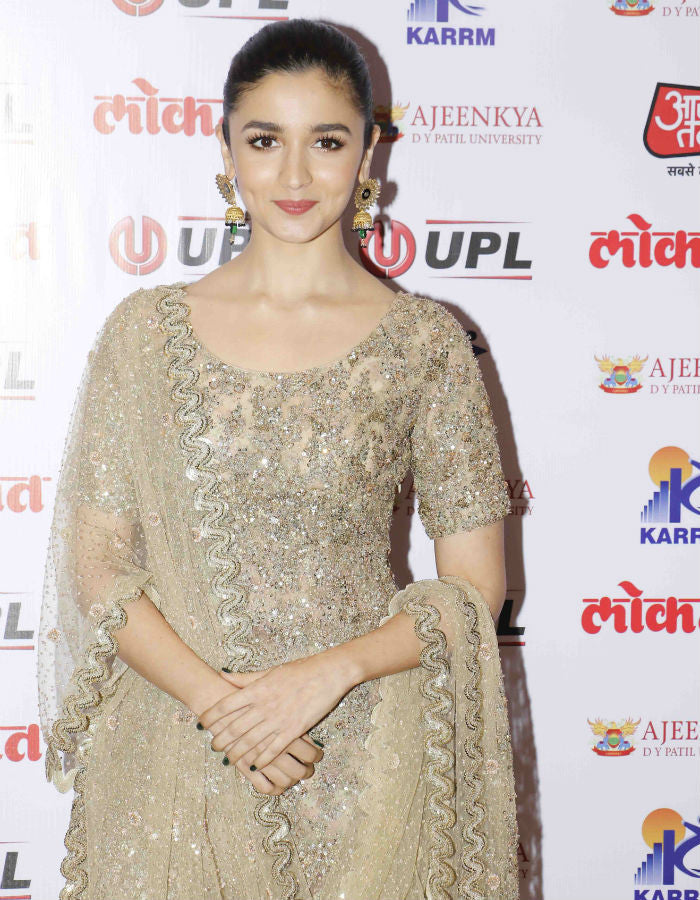 Alia Bhatt in Sabyasachi at Lokmat Awards in Mumbai