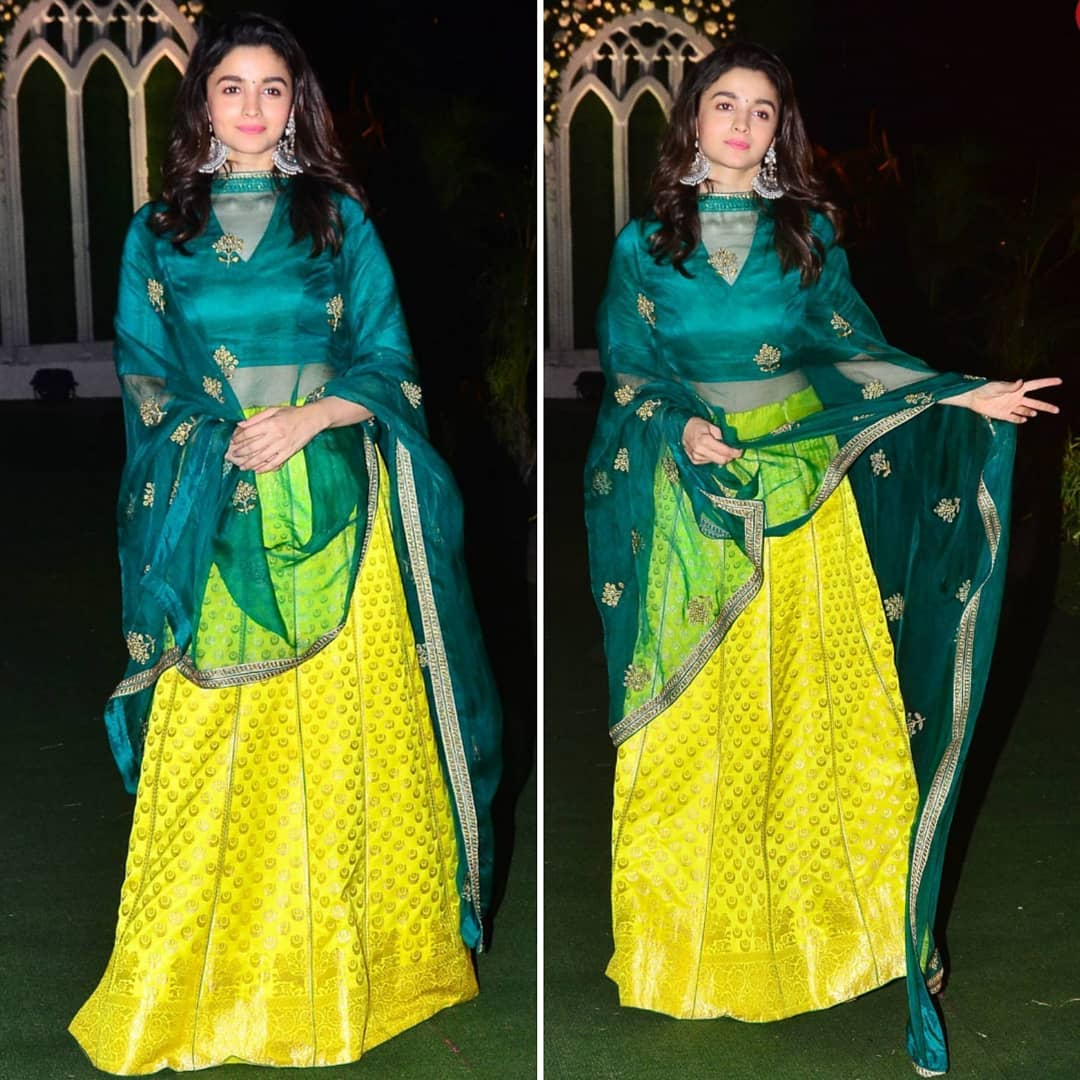 Alia Bhatt's Gorgeous Wedding Ready Look In Designer Lehenga Choli By Raw Mango…