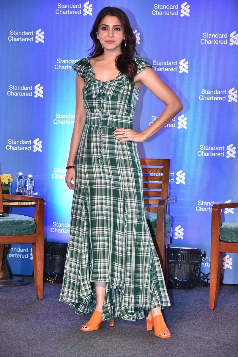 Anushka Sharma Seen In A Rosie Assoulin Maxi Dress