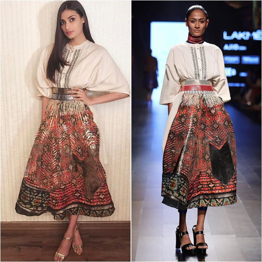 Athiya Shetty Looked Stylish In AM.IT By Amit Aggarwal's Designer Collection